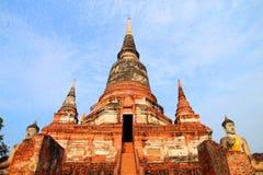 Thaise tempel, Boedha, Ayutthaya. Royalty-vrije Stock Afbeelding