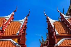 Thaise Tempel, kunst van boeddhisme royalty-vrije stock afbeeldingen