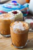 Thaise thee milkshank zoete drank op het glas voor verfrissing royalty-vrije stock fotografie