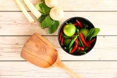 Thaise Tom Yam-soepkruiden en kruiden Royalty-vrije Stock Afbeelding