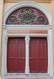 Thaise traditionele antieke deur Royalty-vrije Stock Foto's