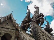 Thaise traditionele architectuur stock fotografie