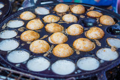 Thaise traditionele zoete takoyaki Stock Foto