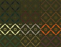 Thaise uitstekende naadloze patroon vector abstracte achtergrond Royalty-vrije Stock Foto