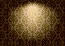 Thaise uitstekende patroon vector abstracte achtergrond Stock Fotografie