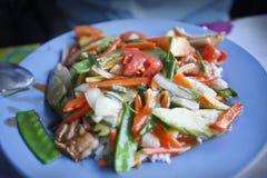 Thaise vegetarische maaltijd. Royalty-vrije Stock Afbeeldingen