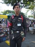 Thaise veiligheidsagent, Bangkok. Royalty-vrije Stock Fotografie