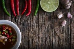 Thaise vissensaus drie smaak Stock Afbeeldingen