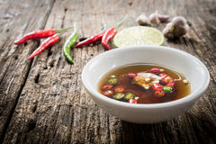 Thaise vissensaus drie smaak royalty-vrije stock foto's