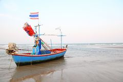 Thaise vissersboot Royalty-vrije Stock Afbeelding