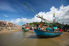Thaise vissersboten Stock Afbeelding