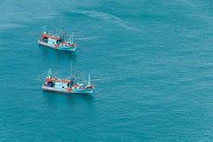 2 Thaise Vissersboten Stock Afbeelding