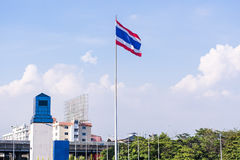 Thaise Vlag Royalty-vrije Stock Foto