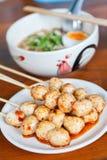 Thaise vleesballetjegrill Stock Fotografie