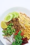 Thaise voedsel gebraden rijst Stock Afbeelding