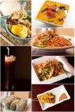 Thaise voedselcollage royalty-vrije stock fotografie