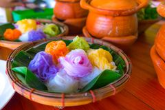 Thaise voedselnoedel met volledige kleur royalty-vrije stock afbeelding