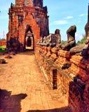 Thaise Wat, Thailand, ayutthaya, watthai royalty-vrije stock afbeelding