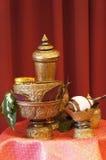 Thaise water het gieten ceremoniereeks. Royalty-vrije Stock Fotografie