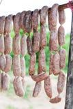 Thaise worsten voor verkoop stock afbeelding