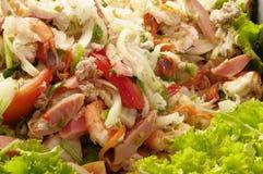 Thaise zeevruchten kruidige salade Royalty-vrije Stock Fotografie