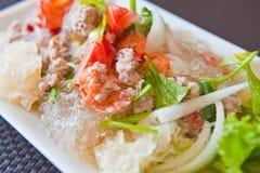 Thaise zeevruchten kruidige salade Stock Foto's