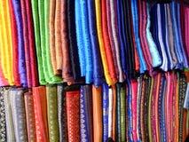 Thaise zijde, Chaing MAI, Thailand. Stock Foto's
