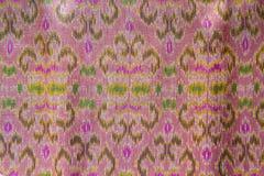 Thaise zijdeachtergrond, Patroon van Thaise gemaakte hand - Royalty-vrije Stock Afbeelding