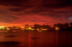Thaise zonsondergang 3 royalty-vrije stock foto's