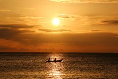 Thaise Zonsondergang Stock Afbeeldingen