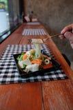 Thaise zure salade Stock Afbeelding