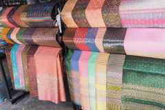 Thaisilk. Fabric crafts thai Silk Cloth Hand made by Thailand Stock Photos
