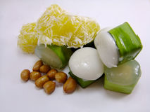 ThaiSweet. Thai sweet, tago, thailand, bean, delicious, coconut milk, sweet on cup, jelly, jam beans inside, flavour Stock Image