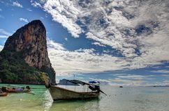 Thaiwand Wall with Phra Nang Beach in Thailand Stock Images