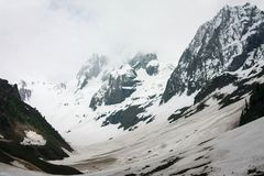 Thajiwas glacier stretching for miles in Sonamarg. Kashmir, India Stock Photography