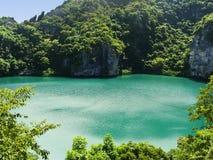 Thale Nai lagoon, Mae Koh island, Ang Thong National Marine Park Royalty Free Stock Photo