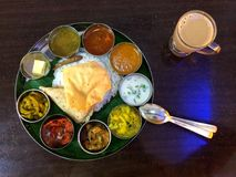 Thali stockfoto