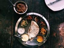 Thali indiano foto de stock