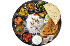 Thali indien Photographie stock