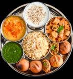 Thali indien image stock