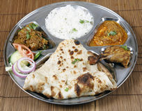Thali indien combiné Images stock