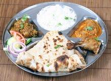 thali indien combiné Photos stock