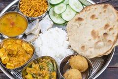 Thali indien de nourriture image stock