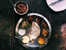 Thali indien photo stock
