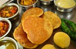 Thali indio de Rajasthani del vegetariano fotografía de archivo libre de regalías