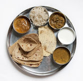 Thali Traditional Indian Meal Royalty Free Stock Photo