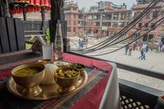Thali with a view stock image