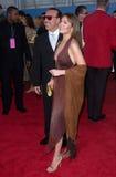 THALIA SODI,Tommy Mottola. Mexican singer THALIA SODI & music mogul husband TOMMY MOTTOLA at the 43rd Annual Grammy Awards in Los Angeles.  21FEB2001.   Paul Stock Image