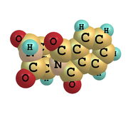 Thalidomide molecule on white Royalty Free Stock Photography