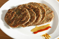 Thalipeeth - A pancake made of rice and gram flour. From India stock photos